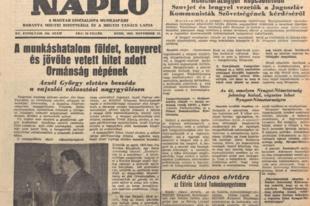 Aczél György elvtárs beszéde a vajszlói választási nagygyűlésen (1958.)