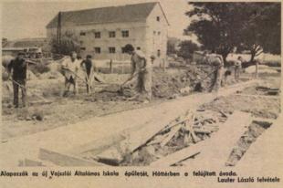 Megsárgult újságlapok: Iskolaépítés és óvodafelújítás Vajszlón (1983.)