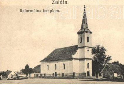 A zalátai ref.templom egy régi képeslapon