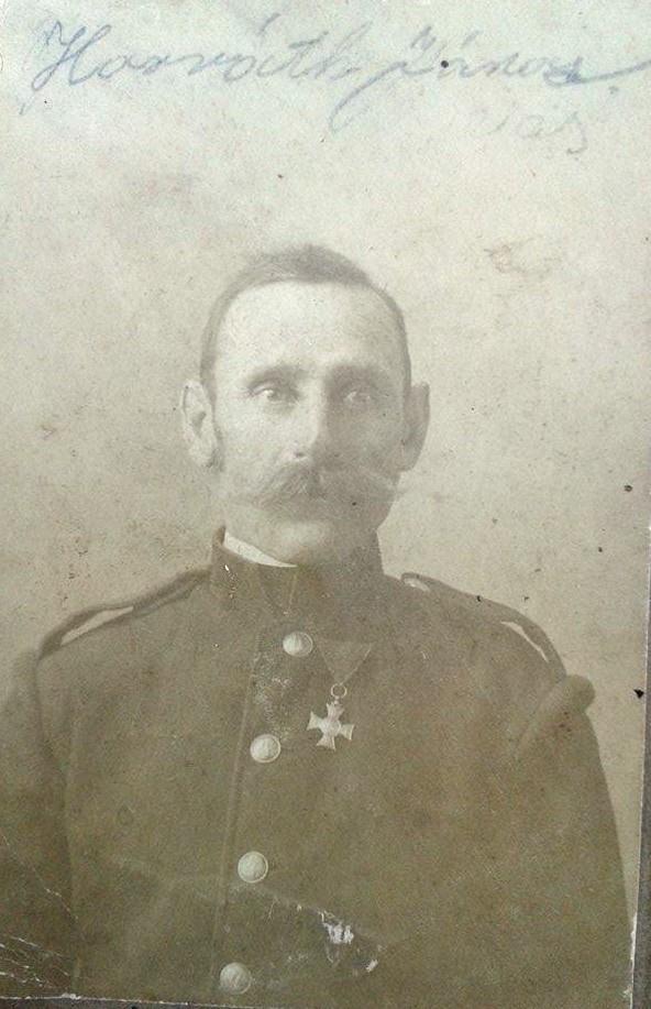 Horváth János, ükapa (anya anyai ágán). A kép a századforduló előtt készülhetett. (Kiss Szilárd felmenője)<br />