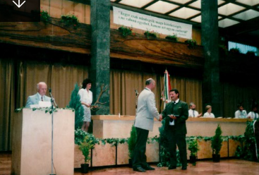 A Bedő Albert-díj átvétele