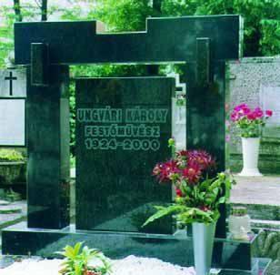 A festőművész sírja a kaposvári temetőben
