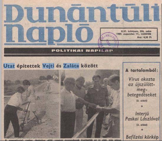 Dunántúli Napló 1989