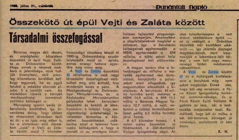Dunántúli Napló 1988