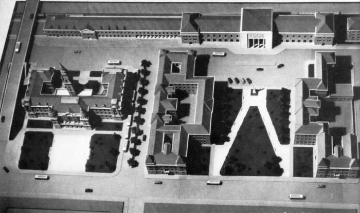 3. kép A pályaudvar környéke, a rendezési terv makettje,1953 [forrás Borbíró-Valló].jpg