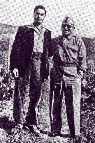 Vito Genovese (rigth) with Salvatore Giuliano (left). Genovese was Colonel Poletti's driver, interpreter and consiglieri (adviser).jpg