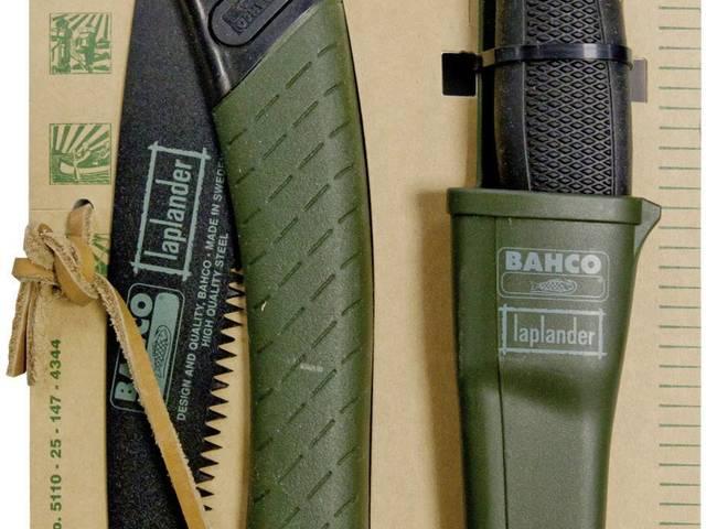 BAHCO Svéd összecsukható fűrész és kés készletben
