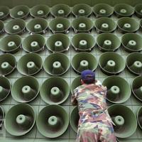 Hangszóró-háború a két Korea határán