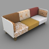 Játékos színes kanapé