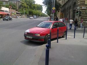 Parkoló szégyenfal szintén egy jó helyen
