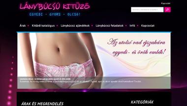 Lánybúcsú kitűző - Új weboldal