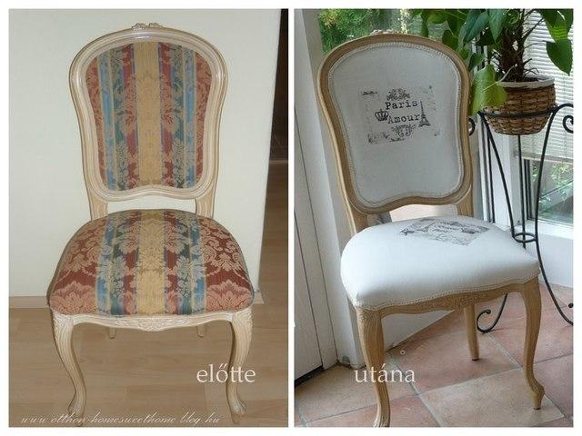 kárpitozott csíkos szék