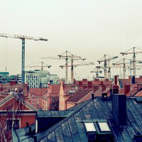 Ipari kilátás egy kompakt lakásból