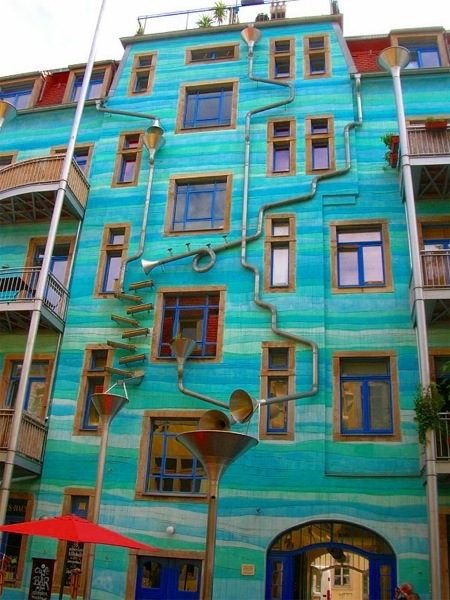 Trombitás ház Drezdában