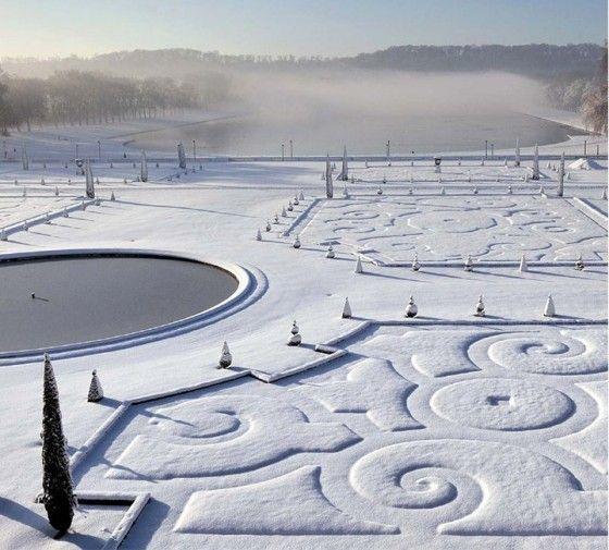Téli kert, talán Versailles