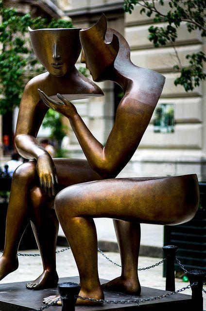 Diskurzus, köztéri szobor, azt hiszem Észak-Amerikában