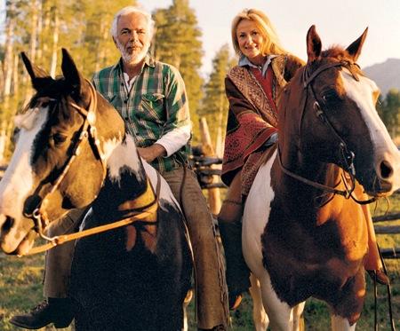 Ranchderby romantika Ralph Lauren módra