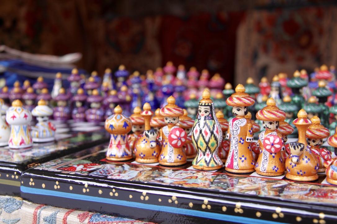 Üzbég sakk készlet