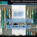 #28.HÉT - SZEKRÉNYEK - Ruhásszekrény rendszerezése