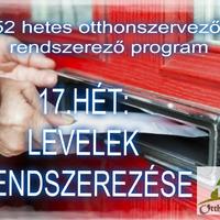 #17.HÉT - OTTHONI IRODA - Levelek rendszerezése