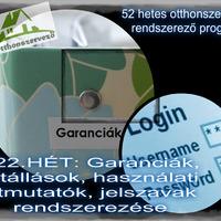 #22.Hét - OTTHONI IRODA - Jótállások, használati útmutatók, weboldalak belépési adatainak rendszerezése