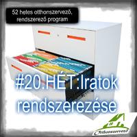 #20.HÉT - OTTHONI IRODA - Iratok rendszerezése