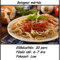 SLOW COOKER - Bolognai mártás