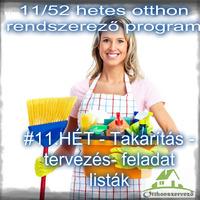 #11.HÉT - Takarítás - tervezés- feladatlisták