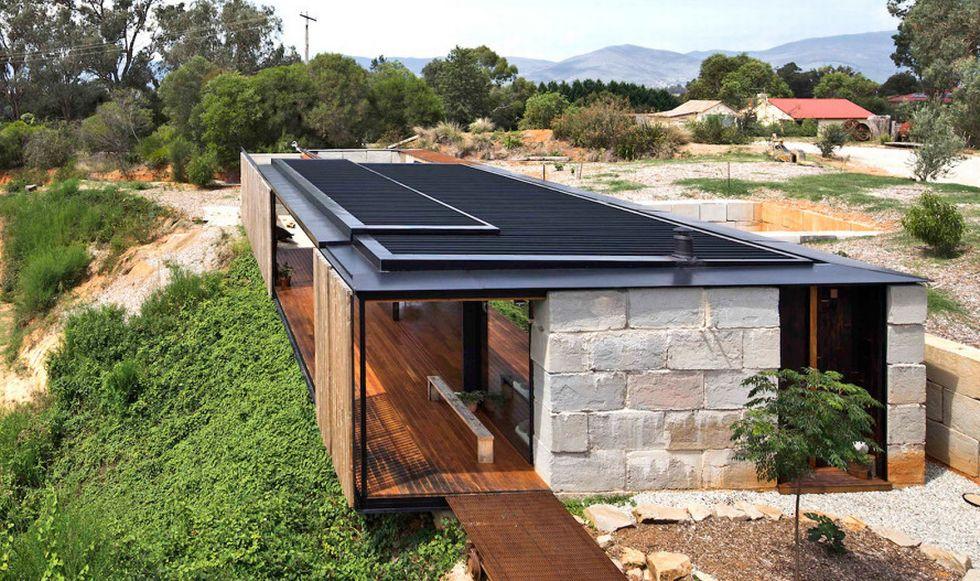 Hiperszuper díjnyertes ház újrahasznosított betontömbökből