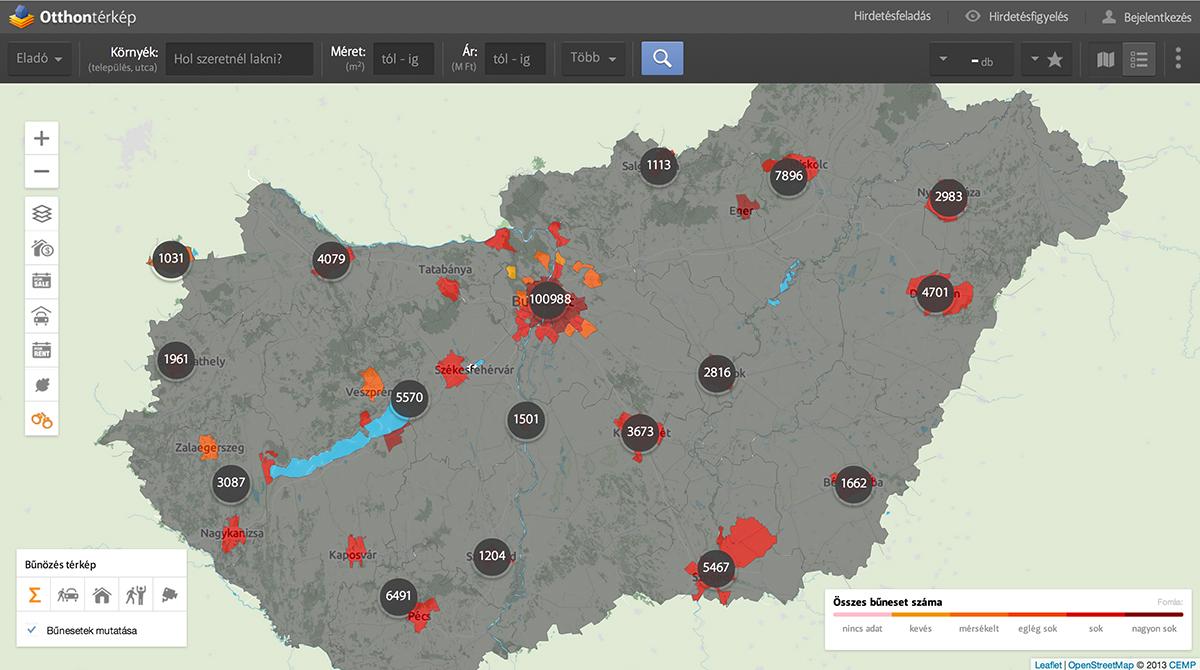 bűnözési térkép magyarország Hol a legnagyobb a bűnözés Magyarországon? – Itt a lista  bűnözési térkép magyarország