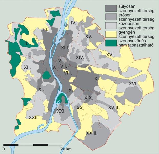 budapest tengerszint feletti magassága térkép Ezek Budapest legzöldebb városrészei   Az Otthontérkép listája  budapest tengerszint feletti magassága térkép