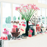 Napi kedvenc: Pink-fekete esküvői dekor