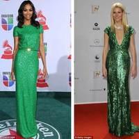 Ki nézett ki jobban zöld, flitteres Elie Saab ruhában?
