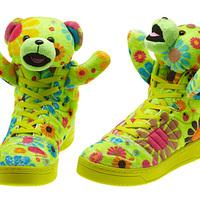 Plüssmacis cipő, maciujjú dzseki és pandás kantárosnadrág - Jeremy Scott x Adidas 2012 ősz