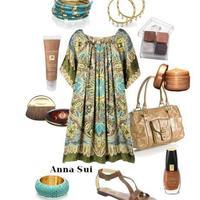 Anna Sui ruha kiegészítőkkel