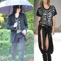 Michael Jackson egy 10.000 dolláros női pólóban feszít