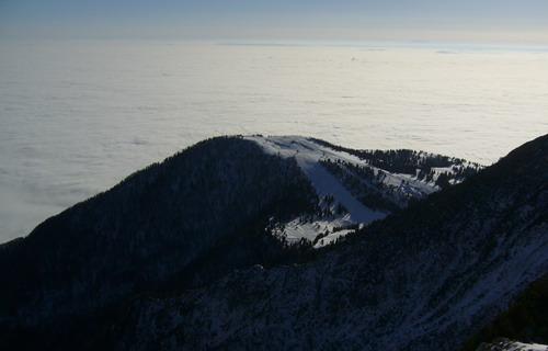 Felhők felett a sípálya