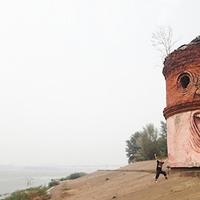 Az Élő Fal (Streetart) - Nikita Nomerz