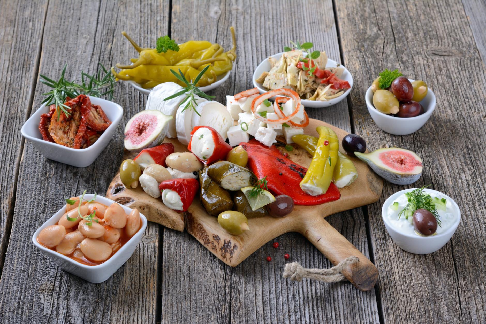 mediterrán receptek diéta