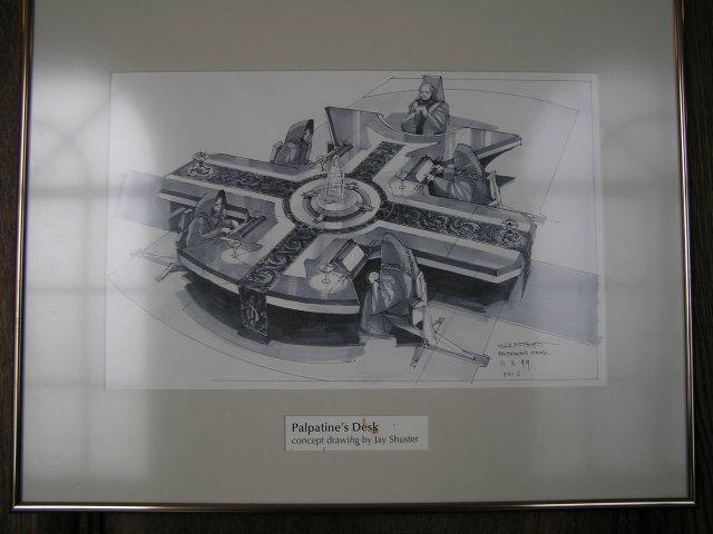 A látványterven Palpatine kancellár asztala