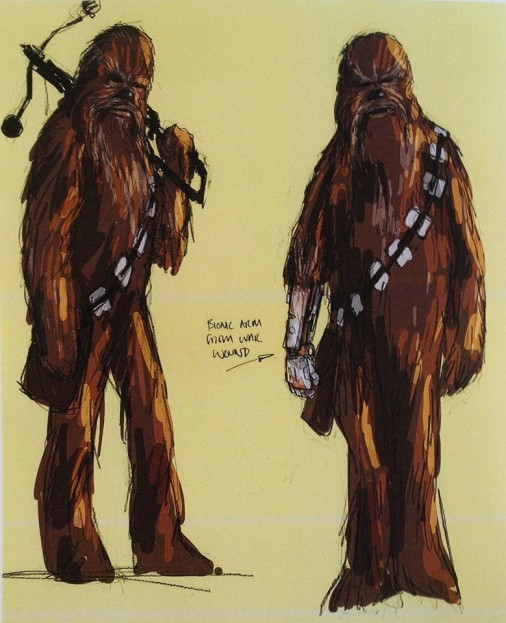 Idős Chewbacca kibernetikus alkarral
