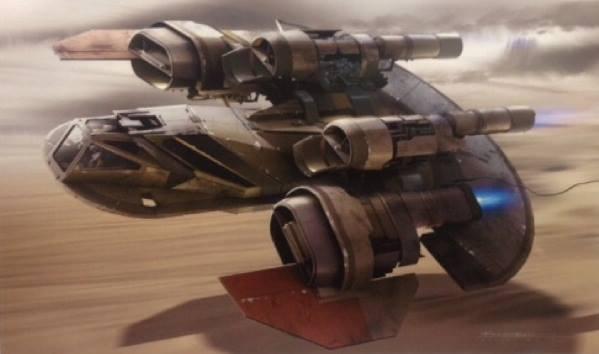 Ismét egy jármű, amin egy X-szárnyú hajtóműveit fedezhetjük fel. Gyönyörűen kidolgozott kép.