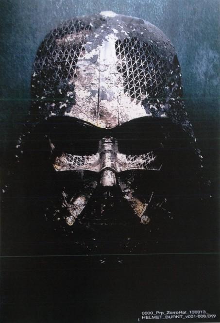 Darth Vader összeégett maszkja, illetve sisakja