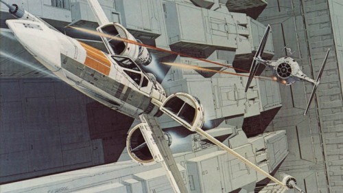 Úgy tűnik, az alkotók ez esetben is korai tervekhez nyúlnak vissza. Ralph McQuarrie 1975-ben készült látványtervén nagyon hasonló X-szárnyú űrhajó látható.