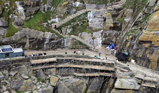 Elképesztő terep. Skellig Michael természeti rezervátum, 800 éve lakatlan. (fotó: theforce.net fórum)