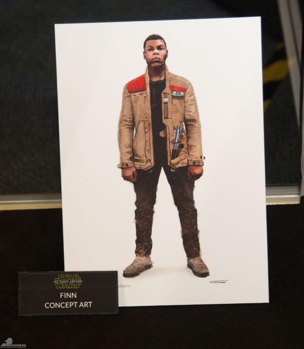 Finn jelmezének látványterve: Leolvasható, hogy a grafika 2014. április 23-án készült. A tervező John Boyega pontos arcmását és Anakin Skywalker fénykardját is a képre rajzolta...<br /><br />(fotó: rebelscum.com)
