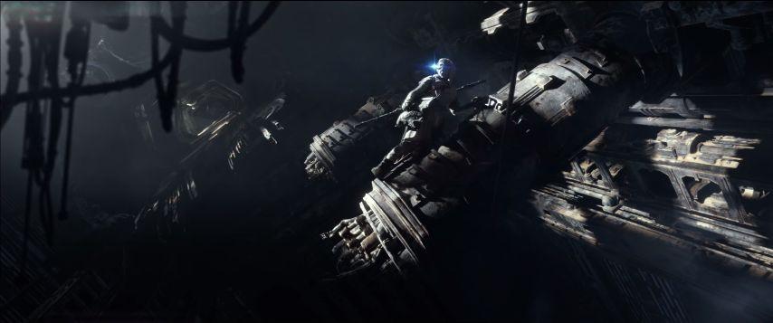 Rey felfedezi belülről a roncsot