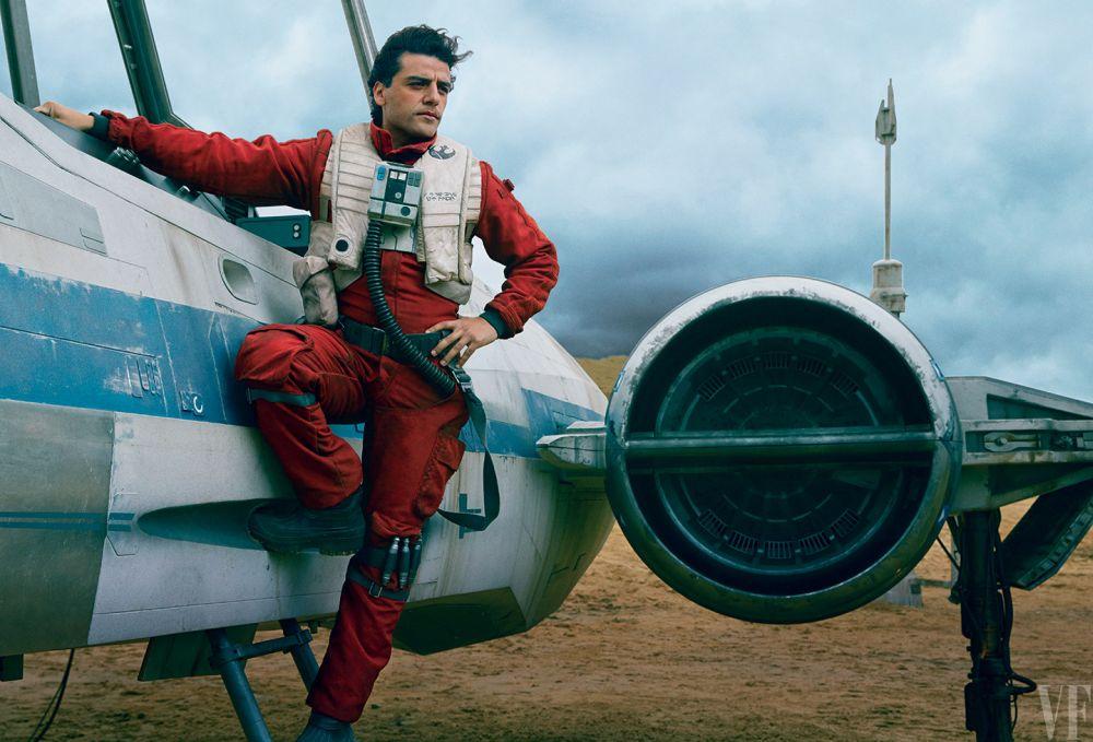 Poe Dameron (Oscar Isaac) és újgenerációs X-szárnyú vadászgépe
