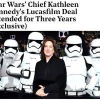 Újabb három évig Kathleen Kennedy a Lucas-birodalom élén