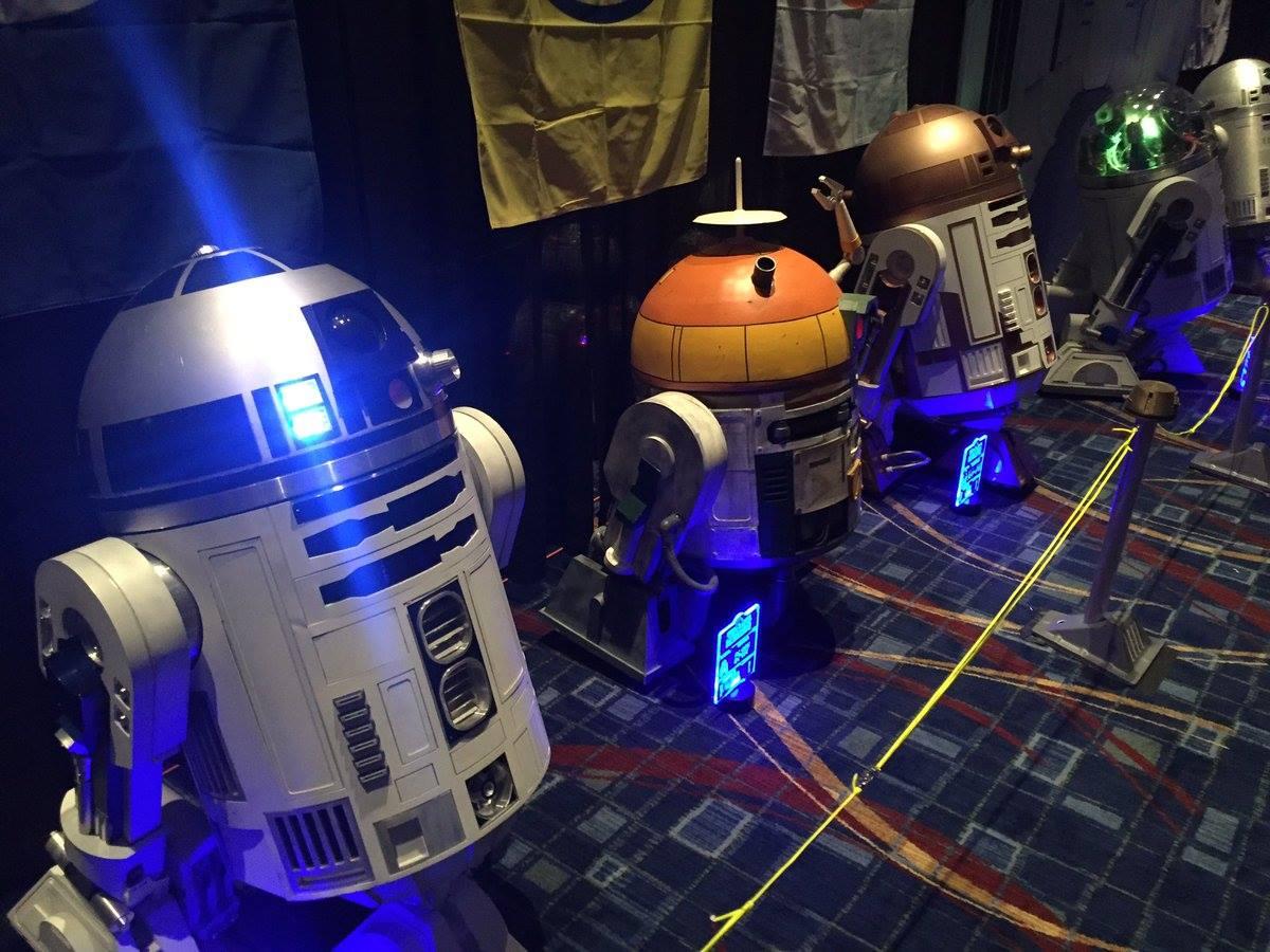 A droid építők pavilonja (forrás: Twitter)